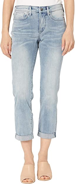 Petite Sheri Slim Ankle Jeans with Roll Cuff in Affection