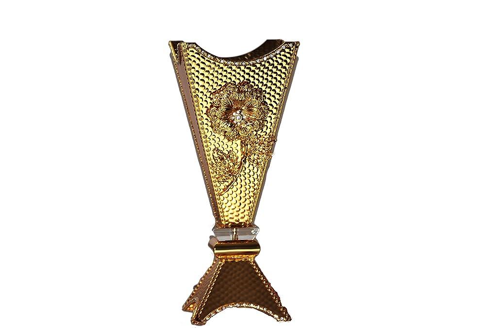 リビングルーム先旅Arabia Incense / bakhoor Burner ( Mabkhara )?–?Oud Burner、メタル、トレイ内側14インチトール 14 inc.