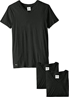 Lacoste Mens 3PK SUPIMA COTTON SLIM FIT VNECK TEE T-Shirt