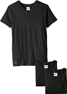 Lacoste Men's 3-Pack Essentials Cotton V-Neck T-Shirt, White, X-Large