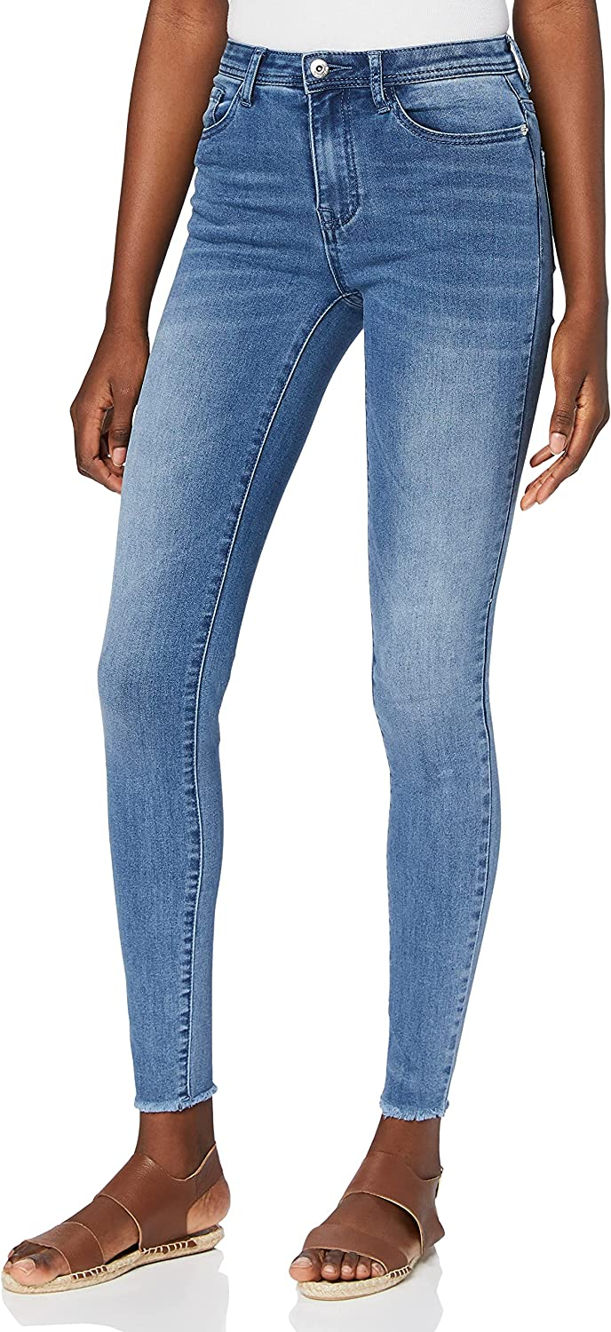 Sale find. Women's Skinny Surprise price High Waist Jeans with Raw Hem