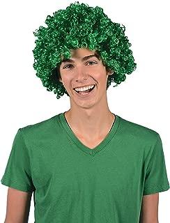 Fun Express - Team Spirit Afro Wig - Green - Apparel Accessories - Costume Accessories - Wigs & Beards - 1 Piece