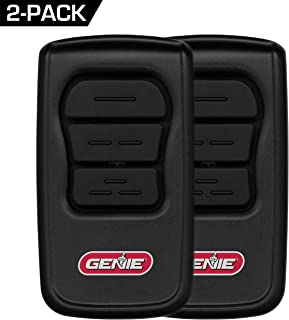 GenieMaster 3-Button Garage Door Opener Remotes (2 Pack) - Each Remote with Genie Garage Door Openers Since 1993 with Intellicode Technology and/or  9/12 Dipswitches - Model GM3T-R