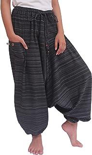 ChiangmaiThaiShop 100% Cotton Baggy Boho Aladin Yoga Harem Pants