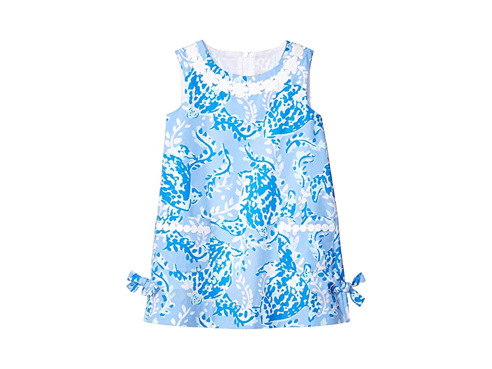 Lilly Pulitzer Kids Little Lilly Classic Dress (Toddler/Little Kids/Big Kids) (Blue Peri Turtley Awesome) Girl