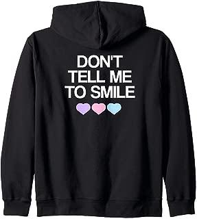 Aesthetic Sweatshirt, Pastel Goth Emo Design Zip Hoodie
