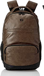 Gear Vintage2 Anti Theft Faux Leather 28 Ltrs Brown Laptop Backpack (LBPVG2LTH0201)