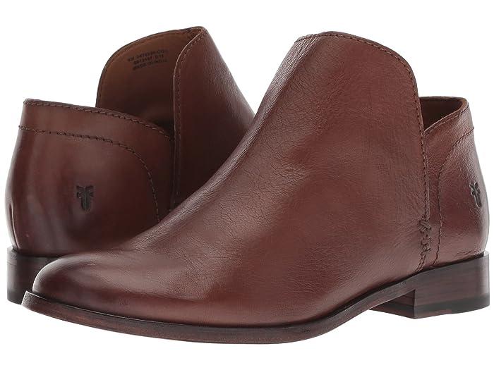 Frye  Elyssa Shootie (Cognac Waxed Goat) Womens Pull-on Boots