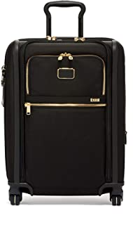 TUMI - Alpha 3 Continental Dual Access 4 Wheeled Carry-On Luggage - 22 Inch Rolling Suitcase for Men and Women - Black/Gold