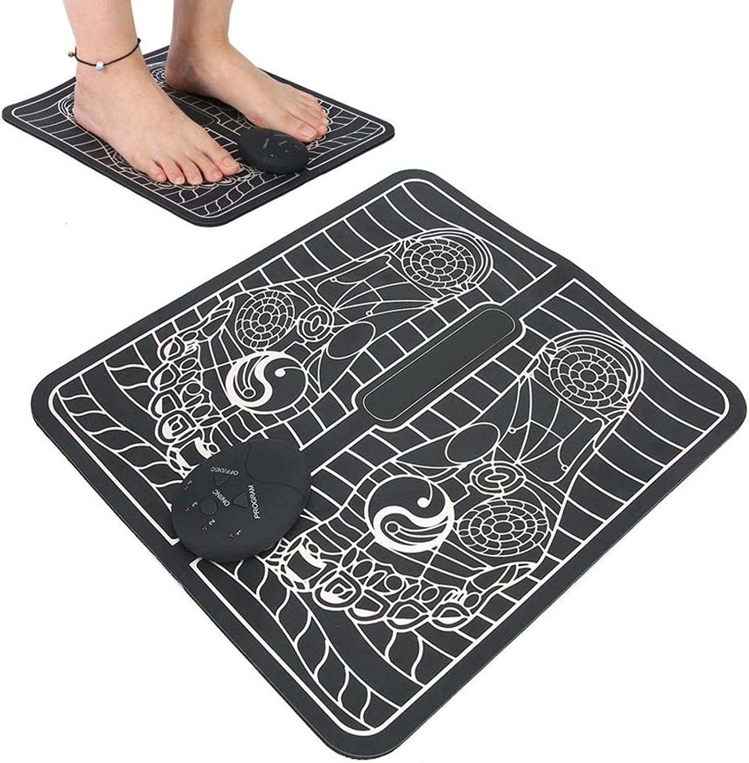 Foldable Electric Massage Foot Pad EMS Foo Super sale Raleigh Mall period limited