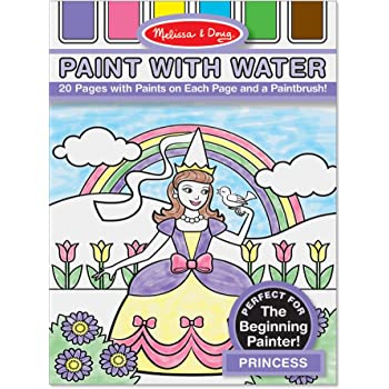 Melissa /& Doug Paint With Water Activity Book Ocean 3176 20 Pages