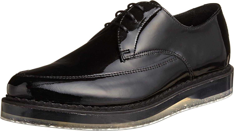 Diesel Men's Kalling Oxford Fashion Casual Dress Black Leather Shoes