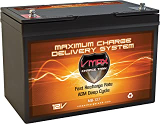 VMAXMB127 AGM Group 27 Deep Cycle Battery Compatible with BB BP90-12 12V 120Ah Wheelchair Battery