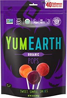 YumEarth Organic Fruit Pops, Halloween Pops, Mixed Flavors, 40 Pops