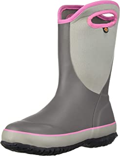 BOGS Kid's Slushie Waterproof Rubber Boys and Girls Snow Boot, Solid Gray, 3 M US Little Kid