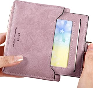 Small Biford Wallet for Women, Cute Coin Purse Leather RFID Blocking Card Holder