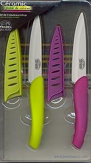 Pradel Jean Dubost 1/10531 Set de 2 Couteaux Office Lame Céramique Blanc Couleurs