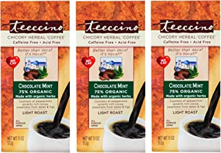 Sponsored Ad - Teeccino Chicory Coffee Alternative – Chocolate Mint – Ground Herbal Coffee That's Prebiotic, Caffeine-Free...