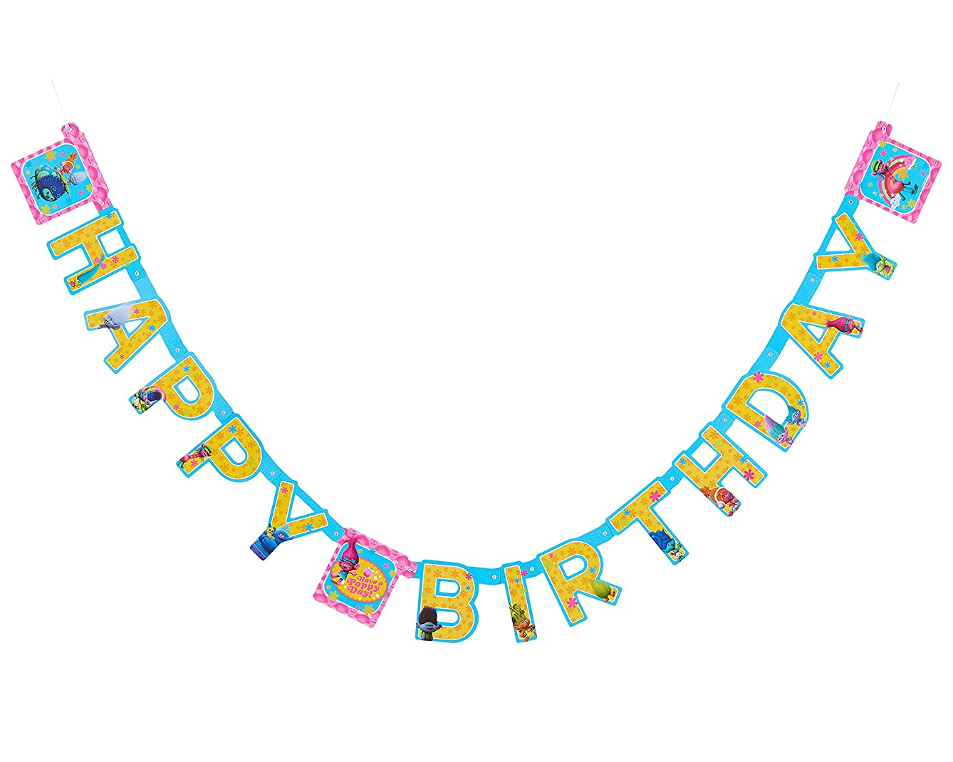 American Greetings Trolls Birthday Party Banner