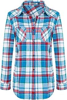 Women Flannel Shirt Button Down Shirt
