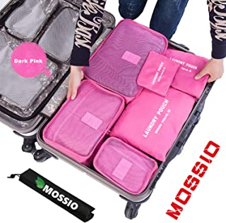 7 Set Packing Cubes with Shoe Bag - Compression Travel Luggage Organizer