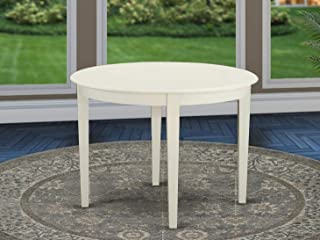 East West Furniture Boston Table Round with 4 Tapered Legs, 42