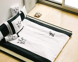 Orient Sense Full Queen Black and White 3 Piece, Coverlet Comforter 88