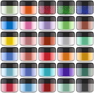Mica Powder Pigment - 30 Colors Metallic Epoxy Resin Pigment Glitter Powder Soap Dye - Glitter Soap Making Colorant for Re...