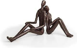 Danya B. ZD15004 Contemporary Metal Art Home Décor - Cast Bronze Sculpture - Romantic Couple