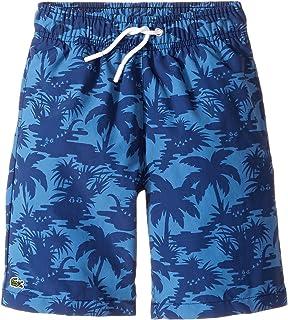 [ラコステ] Lacoste Kids ボーイズ Palm Tree Print Swimsuit (Little Kids/Big Kids) 水着 Penumbra/Columbine 6 (Little Kids) [並行輸入品]