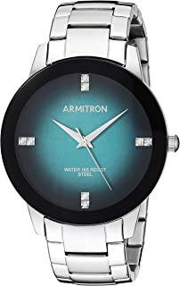 Armitron Men's 20/5302TLSV Swarovski Crystal Accented Silver-Tone Bracelet Watch