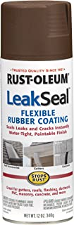 Rust-Oleum 267976 12-Ounce Leak Seal Flexible Rubber Sealant, Brown