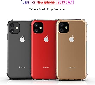 iPhone 11 Case, JR New Cover Case Heavy Duty [Shock Absorption] with Transparent Hard Plastic Back Plate and Soft TPU Gel ...