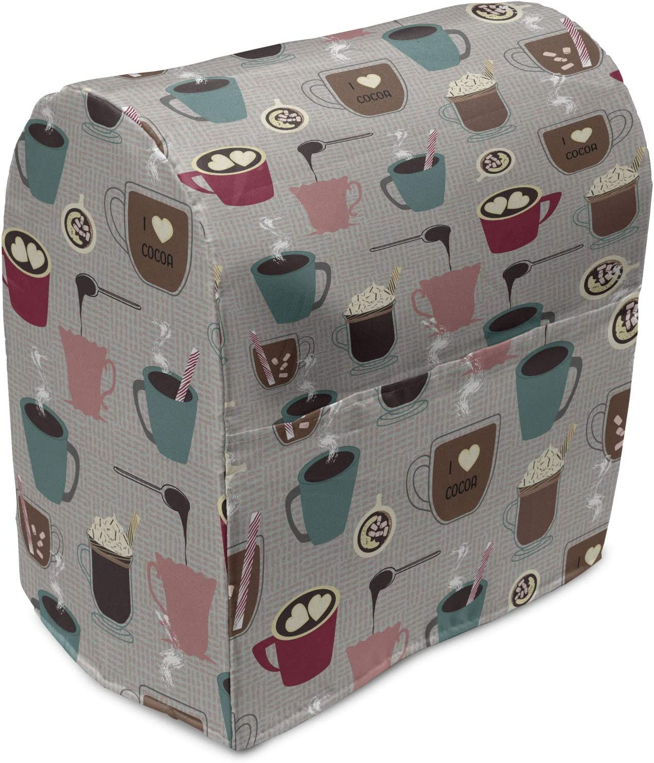 famous 70% OFF Outlet Lunarable Coffee Stand Mixer Cover I Love Theme Mocha Cocoa Cup