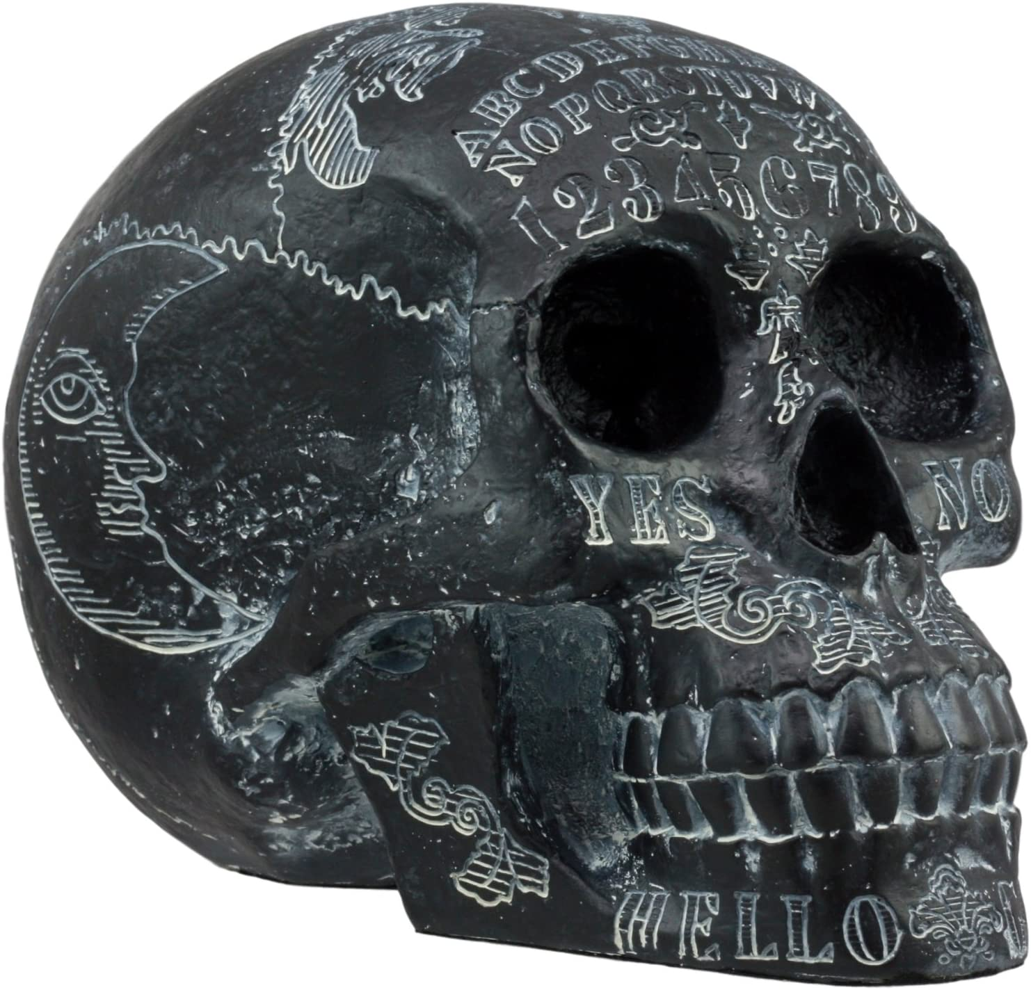 Ebros Black Solar Astrology Paranormal Spirit Super beauty product restock quality top! Limited Special Price Statue Skull Ouija