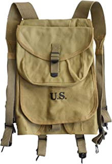 ANQIAO WW2 US Solider M1928 Haversack Khaki Canvas Material Reproduction WWII