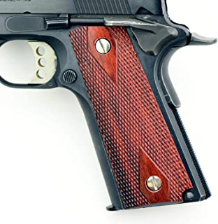 Altamont 1911 Grips - Classic Panel - Full Size 1911 Real Wood Gun Grips w. Ambi Safety fits Most Commander, Standard & Government 1911 Models - Made in USA