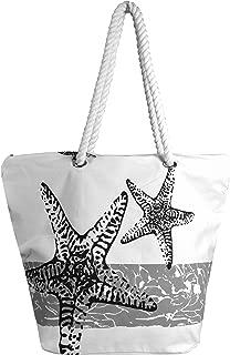 Peach Couture LARGE Nautical Anchor Print Bold Stripe Summer Purse Beach Bag Totes