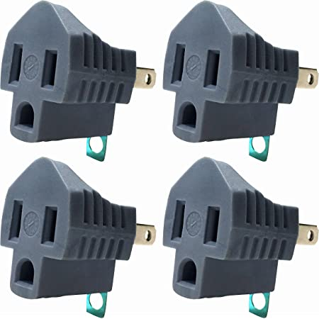 AC OUTLET ADAPTER 3 prong Convert to 2 blade grounding Cheater Plug LEVITON 274