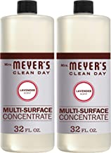 Mrs. Meyer's Clean Day Multi-Surface Cleaner Concentrate, Use to Clean Floors, Tile, Counters,Lavender Scent, 32 oz- Pack ...