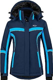 Wantdo Women`s Waterproof Ski Jacket Warm Winter Snow Coat Windproof Snowboarding Jackets Insulated Parka