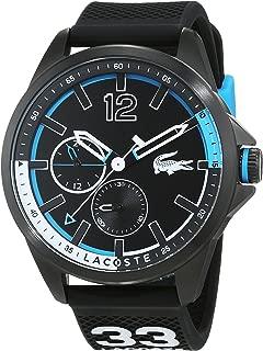 Lacoste Men's Black Dial Rubber Band Watch - 2010896