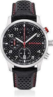 Audi Montre chronographe pour Homme en Cuir de Carbone Noir/Argent 3101900500