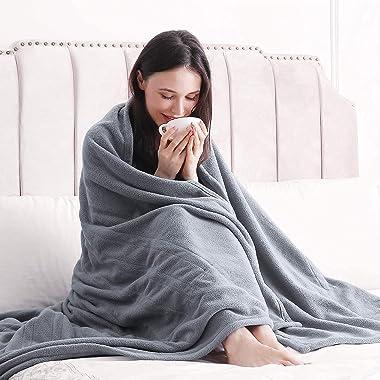 Electric Heated Blanket Twin Size 62'' x 84'' Polar Fleece Full Body Warming Premium Microfiber Sofa Blankets