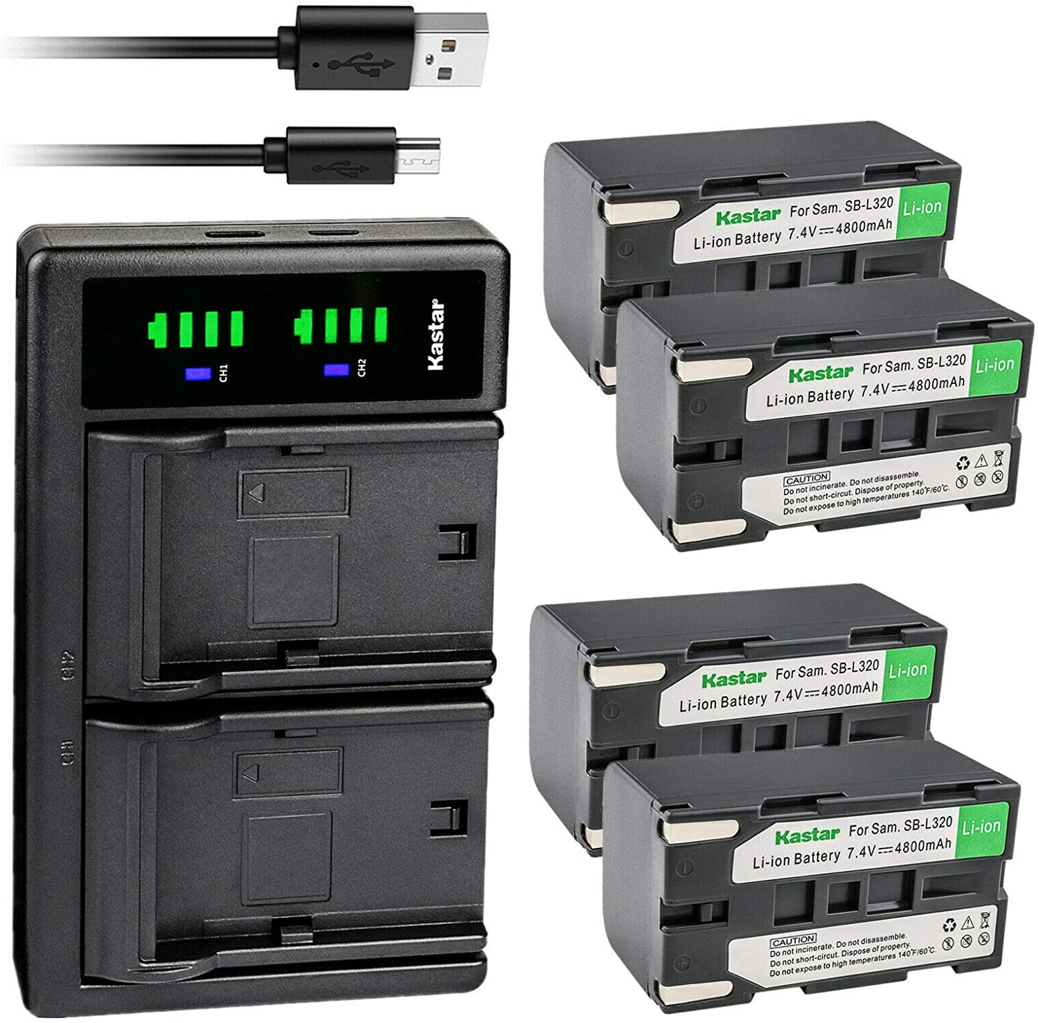 Kastar 4-Pack SB-L320 Battery Some reservation online shop and Charger LTD2 USB Replacement f