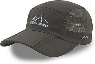 قبعة بيسبول للرجال والنساء سريعة الجفاف قابلة للطي للحماية من الشمس في الهواء الطلق قبعة الجري الرياضية