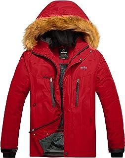 Wantdo Chaqueta de Esquí de Montaña para Hombre Abrigo de Lana Cálido Chaqueta de Snowboard Impermeable Cortavientos al Ai...
