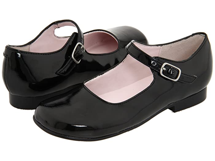 Retro Vintage Style Wide Shoes Nina Kids Bonnett ToddlerLittle Kid Black Patent Girls Shoes $49.00 AT vintagedancer.com