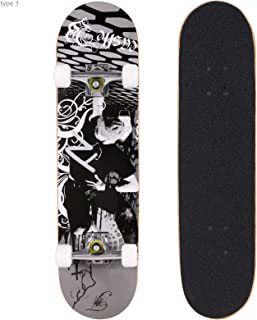 Smibie Skateboards Pro 31 inches Complete Skateboards for Teens Beginners Girls Boys Kids Adults, 9 Layer Maple Wood Skateboard