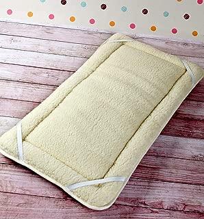 Woolmark Certified !! Natural Reversible Mattress Topper PERUGIANO 100% Merino Wool Thick, Mattress Topper WOOLMARKED Wool Sheet (Single 35